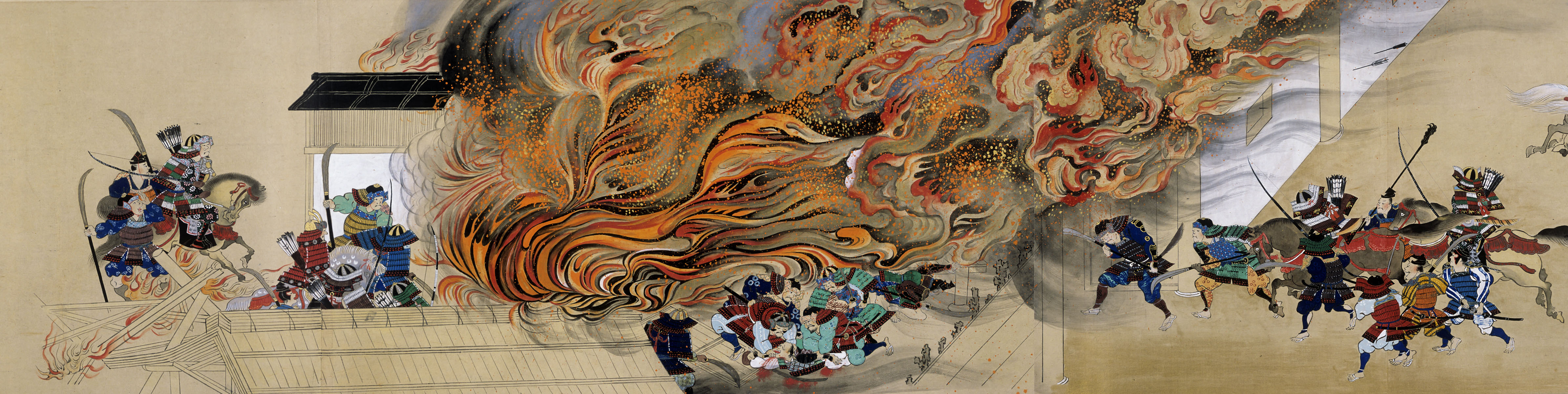 Fiery vision: A detail of one of seven 'Illustrated Handscrolls of the Legends of Ishiyama-dera Temple' by Tani Buncho. (19th century) | SUNTORY MUSEUM OF ART
