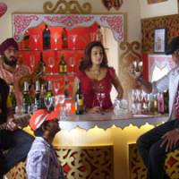 Lights, camera, cocktail: A bar scene is shot at Whistling Woods International, a film school founded in 2006 by director and producer Subhash Ghai. | MARK SCHILLING PHOTO