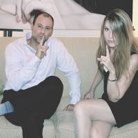 Two's company: Noel Biderman, CEO of Ashley Madison, and Eleonora Heidi, director of international operations, at the site's recent Japan launch in Tokyo. | JAKE ADELSTEIN
