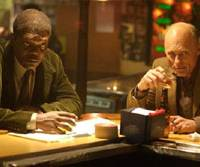 Cleaning up at the bar: Samuel L. Jackson and Ed Harris in 'Cleaner'