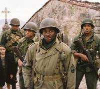 Back in black: Matteo Sciabordi, Oma Benson Miller, Michael Ealy, Derek Luke and Laz Alonso in 'Miracle at St. Anna' | © 2008 (BUFFALO SOLDIERS AND ON MY OWN PRODUZIONE CINEMATOGRAFICHE) — ALL RIGHTS RESERVED
