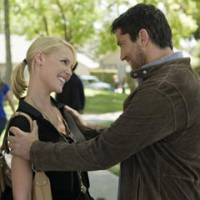 Shopworn formula: Katherine Heigl and Gerard Butler star in the battle-of-the-sexes flick 'The Ugly Truth.'