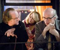 All talk: Philip Seymour Hoffman, Michelle Williams and Tom Noonan in 'Synecdoche, New York' | © 2008 KIMMEL DISTRIBUTION, LLC. ALL RIGHTS RESERVED