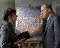 Pigments of imagination: When art critic Wilhelm Uhde (Ulrich Tukur) crashes into her life, maid-cum-painter Seraphine de Senlis (Yolande Moreau) finds her palette filled with vivid new colors. | © TS PRODUCTIONS/FRANCE 3 CINEMA/CLIMAX FILMS/RTBF 2008