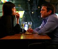 Found in translation: Market worker and contract killer Ryu (Rinko Kikuchi) and troubled wine merchant David (Sergi Lopez) reveal to one another their respective perspectives of Tokyo. | © 2009 MEDIAPRODUCCION, S.L / VERSATIL CINEMA, S.L.