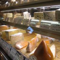 Funky selection: Cheeses on display at Fermier in Tokyo.
