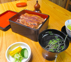 The eel deal: Matsuyoshi, a traditional neighborhood eel restaurant in Nihonbashi- Kabutocho, is perfectly preserved both inside and out. It serves classic unaju (grilled eel over rice) with kimo-jiru soup.