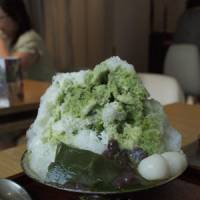 Ice-cool: Kagigori, shaved ice with syrup, pictured here with green-tea syrup and condensed milk, is one of many traditional ways to beat the heat in Japan. | MIO YAMADA