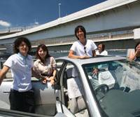 On their way: Some of the many thousands of people now using the 'notteco!' online car-sharing service prepare to set off on a trip that promises not only economical travel but possibly new friends, too. | TURNTURTLE