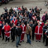 Motorcyclists embrace the spirit of Christmas