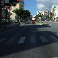 Roles reversed: Traffic now drives on the left in Okinawa City. | JON MITCHELL PHOTO