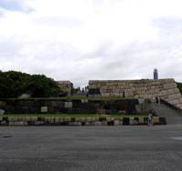 Building blocks: The stone foundations of Edo Castle's tower as they now remain in the East Gardens of the Imperial Palace grounds. | TOMOKO OTAKE PHOTO