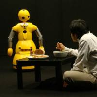 Electrifying: Robot and human actors interact with real feeling in 2008's 'Hataraku Watashi' ('I Worker') by Oriza Hirata. | © OSAKA UNIVERSITY & EAGER Co. Ltd.