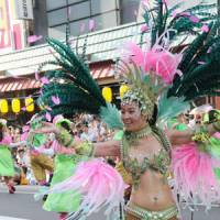 Top notch: A solo dancer with the winning G.R.E.S. Saude team shows off marvelous samba steps.