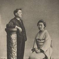 Home from home: Lafcadio Hearn (1850-1904) with his wife, Setsu, whom he met and married in Matsue, Shimane Prefecture. He subsequently became a naturalized Japanese and, as an author, the most famous foreign interpreter of his adopted homeland. | ALICE PULVERS ILLUSTRATIONS