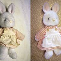 Bunnaissance: After a dose of Yoshinaga TLC, the distressed toy (left) is like new. | EDAN CORKILL PHOTOS
