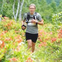 Colin Yarker competes in a 50-km trail run event in Shiga Kogen, Nagano Prefecture, in 2011. | COURTESY OF COLIN YARKER