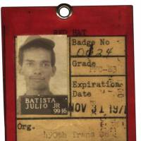On record: A security tag headed 'RED HAT' that was issued to then U.S. serviceman Julio Batista. | JULIO BATISTA