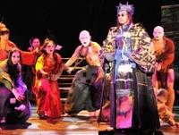 Notorious performance: 'The Miraculous Mandarin' was banned after premiering in 1926. Musician Jun Miyake updates the play's musical score in its most recent incarnation, which is now playing in Tokyo.