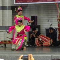 Staging grace: Indonesian dance is performed in Yoyogi Park last year. | C.P.I. JAPAN
