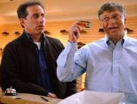 Ad value: Actor Jerry Seinfeld and Microsoft Chairman Bill Gates feature in a 2008 Microsoft commercial, one of many at The World's CM Festival.