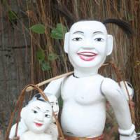 Trade tools: White wooden puppets belonging to the Thang Long Water Puppetry Theater will be used in one of several offerings during the Asian Performing Arts Festival being held in Tokyo. Theatrical productions and dance performances are also part of the five-day festival that picks up on themes from seven different countries.