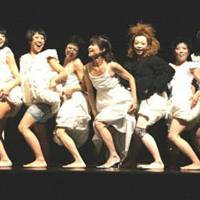 Line dance: The dancers of Mademoiselle Cinema perform at a theater belonging to Bulgaria's National Academy for Theatre and Film Arts in Sofia in November 2009.   TAKASHI ITO