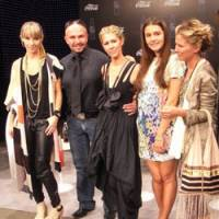 Australian designers Kirrily Johnston, Alex Perry, Heidi Middleton and Sarah-Jane Clarke join Milan's Margherita Missoni (second from right).