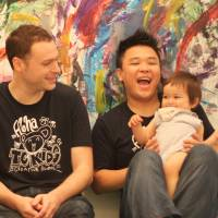 Bubbles, music and paint as babies learn to create