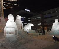 Sapporo Snow Festival, held early next month, boasts a vast array of sculptures. | MARK ANDREWS PHOTOS