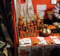 Seven wonders: A stall laden with shichimi togarashi, a seasoning made of seven spices that is sold in small gourds.   MARK SCHREIBER PHOTO