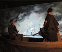Local color: A diorama in Hagi's Yoshida Shoin Historical Museum (left) depicts one of the town's most famous sons, the scholar Yoshida Shoin, who is shown with a companion during his 1854 attempt to board one of Commodore Matthew Perry's visiting U.S. warships in Shimoda, present- day Shizuoka Prefecture, and be taken to America. In the event, Yoshida was handed back to the shogunal authorities and jailed. | CHRIS BAMFORTH PHOTOS