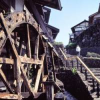 Past glory: A magnificent water wheel in Magome that once powered a flour mill.
