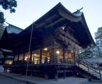 Flow of time: Ancient Akimiya Shrine is dwarfed by trees hundreds of years old.