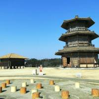 Echoes of the past: The Drum Tower and rice store at Kikuchi Castle. | MANDY BARTOK PHOTO