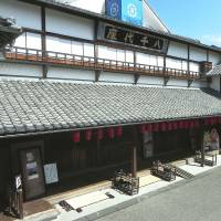 An exterior view of the century-old Yachiyoza Theater in Yamaga. | MANDY BARTOK PHOTO
