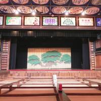 The wonderfully colorful stage and auditorium of Yachiyoza Theater. | MANDY BARTOK PHOTO