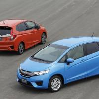 Forward-leaning: Honda Motor Co.'s Fit has been completely overhauled. | HONDA MOTOR CO./KYODO
