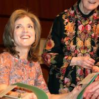 Torchbearer: Caroline Kennedy, who is apparently set to become the next U.S. ambassador to Japan, signs copies of her book in Kansas City, Missouri, in April. | KYODO