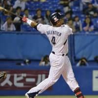 That's gone:  Wladimir Balentien is tied with Tony Blanco for the NPB lead in home runs. Both have 25. | KYODO