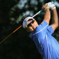 In the hunt: Hideki Matsuyama is four strokes off the pace after the opening round of the Canadian Open on Thursday. | KYODO