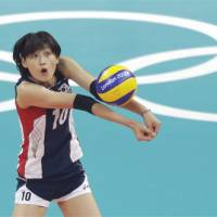 Playing hardball: South Korea's Kim Yeon-koung, seen here at the London Olympics, is embroiled in a dispute with her former club team that could end the spiker's career with the national team.   AP