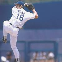 Trail blazer: Hideo Nomo, who left Nippon Pro Baseball to play for the Los Angeles Dodgers in 1995, was Japan's first international sporting star. | AP