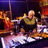 A hidden gem, Ethiopian jazz pioneer Mulatu Astatke plays to a small crowd in the Crystal Palace tent.  | JAMES HADFIELD