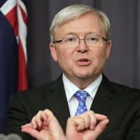 Rudd names record number of women to new Australian Cabinet