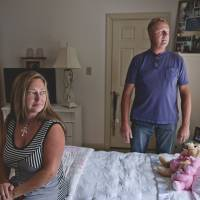Home is where the heart is: If a court allows Margaret Jean 'Jenny' Hatch to choose where she lives, she would stay in this room in the Newport News, Virginia, home of friends Jim Talbert (right) and Kelly Morris. | THE WASHINGTON POST