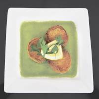 Cicada's crab cakes are from the Moroccan end of the restaurant's menu.   | ROBBIE SWINNERTON