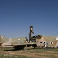 Wrecked: A dismantled C-123 sits at Davis-Monthan Air Force Base in Tucson, Arizona, in 2010. | THE WASHINGTON POST
