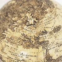 Old world: A globe from 1504 that may be the world's oldest depicting the New World is engraved on ostrich egg halves in this photo from the Washington Map Society. | THE WASHINGTON POST