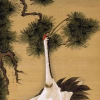 'Pair of Cranes and Morning Sun' by Ito Jakuchu | TEKISUIKEN CULTURAL FOUNDATION